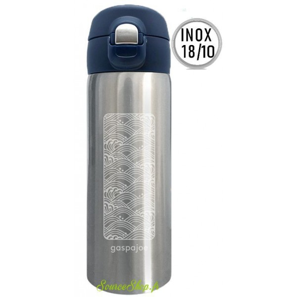 Mug inox isotherme Trendy - 350ml - Vague - Inox 18/10 - Gaspajoe