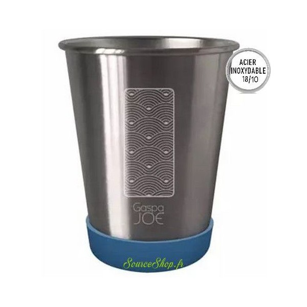 Gobelet inox - 350ml - Vagues - Inox 18/10 - Gaspajoe