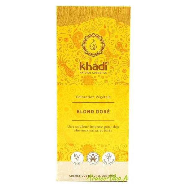 Coloration ayurvédique BIO blond doré - Khadi
