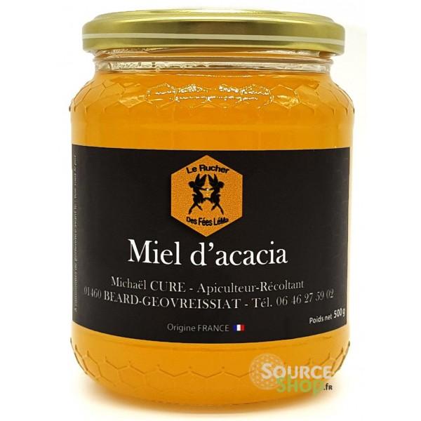 Miel d'acacia du Haut-Bugey - 500g - Le Rucher des Fées Léma