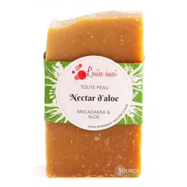 Savon BIO à l'Aloe et Macadamia - Nectar d'Aloe - Louise émoi