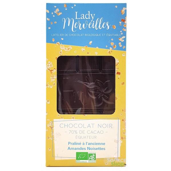 Chocolat noir praliné à l'ancienne BIO - Artisanal & Français