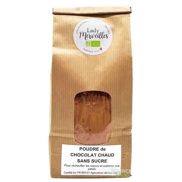 Chocolat chaud BIO non sucré - Artisanal & Français - Lady Merveilles