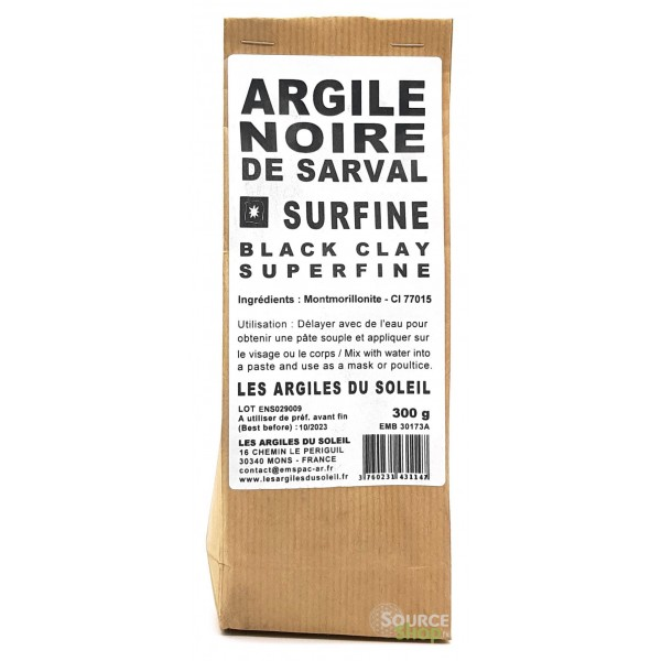 Argile noire - Surfine - Les Argiles du Soleil