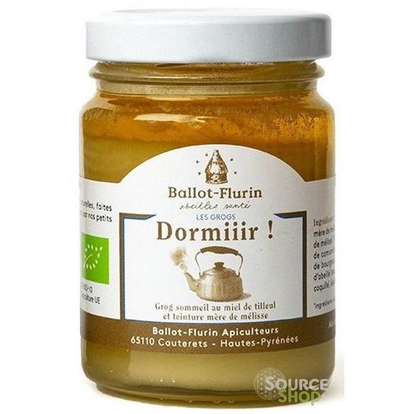 Grog BIO sommeil au miel de tilleul & mélisse - 125g - Ballot Flurin
