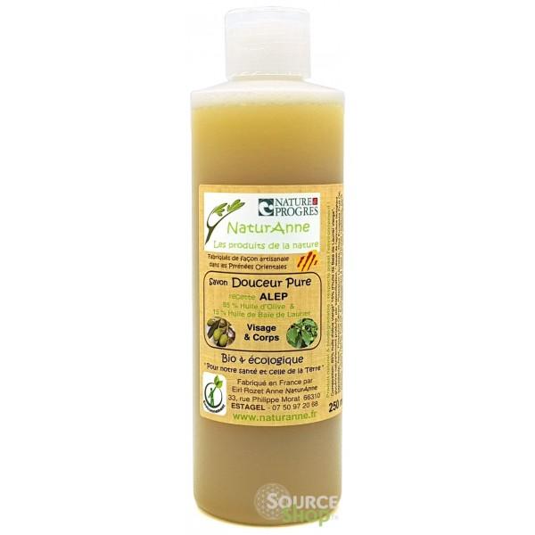 Savon d'Alep liquide BIO  - 15% d'huile de baies de laurier - NaturAnne