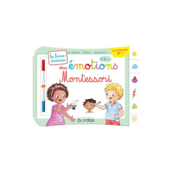 Mes émotions Montessori - Ardoises 3 à 6 ans