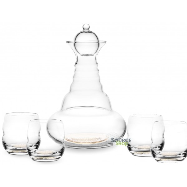 Carafe Alladin or 1.3L + 4 verres Mythos or - Nature's Design