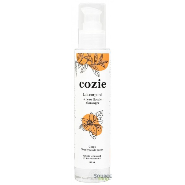Lait corporel BIO à l'eau florale d'oranger - 100ml - COZIE