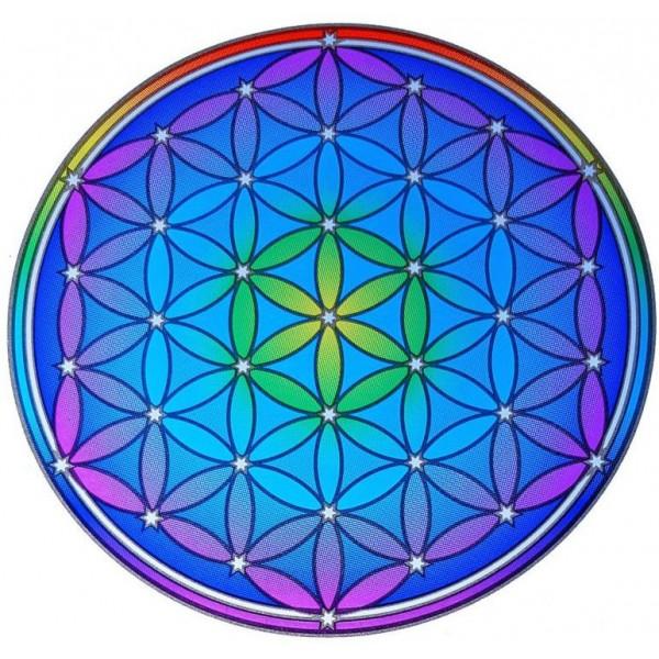Grand adhésif / sticker attrape-soleil Fleur de Vie Mandala