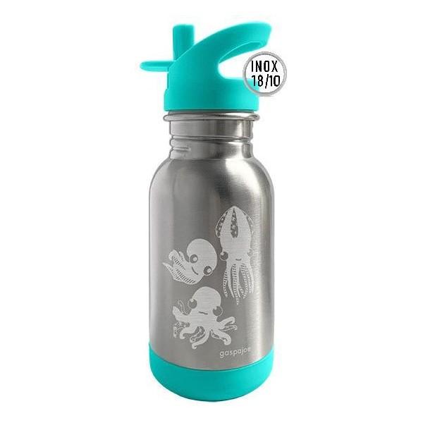 Gourde inox pour enfants Loopy- 450ml - Tortue - Inox 18/10 - Gaspajoe