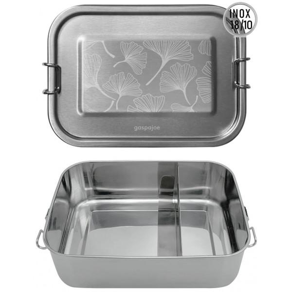 Lunch Box inox Yummy - 1200ml - Gingko - Inox 18/10 - Gaspajoe