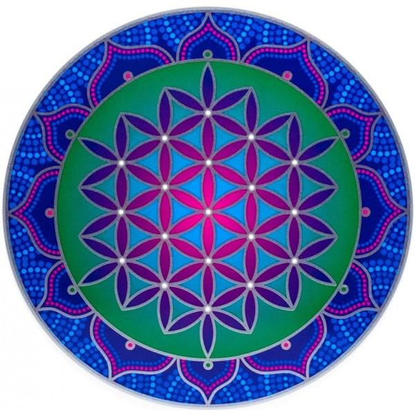Grand adhésif / sticker attrape-soleil Fleur de Vie sacrée