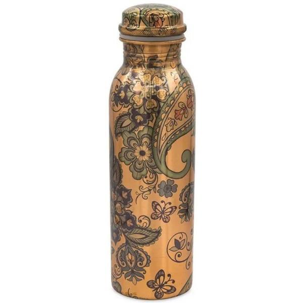 Bouteille cuivre motifs cachemire - 750ml - Yogi & Yogini