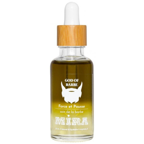 Huile de soin barbe - Force & Pousse - God of Barbe - 50ml - Mira