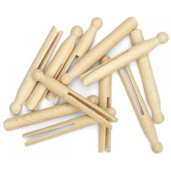 25 Pinces à linge en bois en vrac - La Droguerie Ecologique