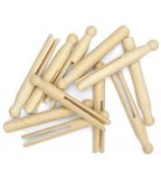 25 Pinces à linge en bois en vrac