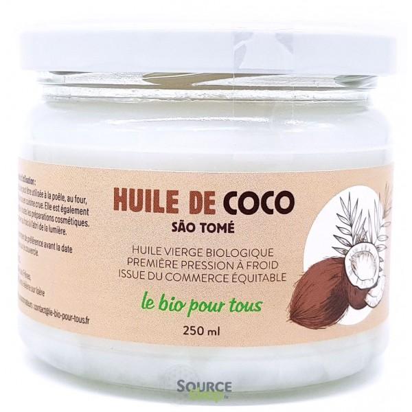 Huile de coco vierge BIO - 250ml - Le Bio Pour Tous