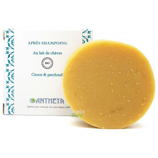 Après-Shampooing solide BIO au lait de chèvre - Brillance - Antheya