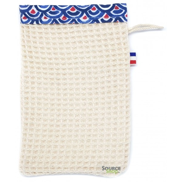Gant de toilette coton BIO GOTS - Artisanal & Français
