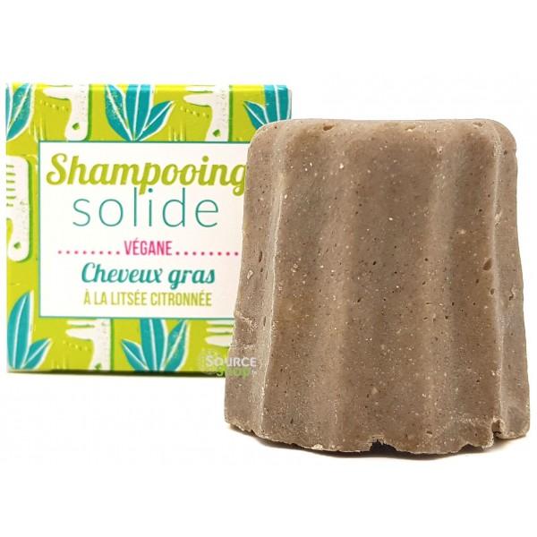 Shampooing solide pour cheveux gras à la litsée citronnée - Lamazuna