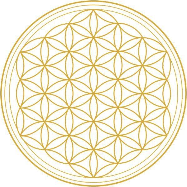Adhésif / sticker attrape-soleil Fleur de Vie or