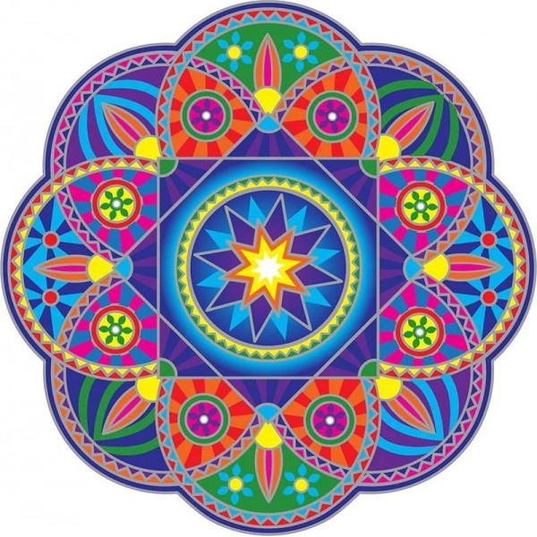 Grand Adhésif / sticker attrape-soleil mandala Sunburst