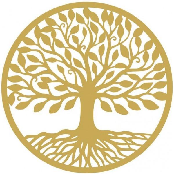 Adhésif / sticker attrape-soleil Arbre de Vie or