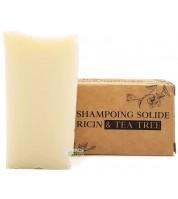 Shampooing solide BIO à l'arbre à thé & ricin - tout type de cheveux