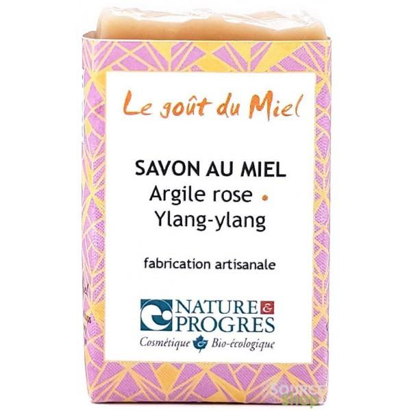 Savon BIO à l'argile rose & ylang-ylang - Le Goût du Miel