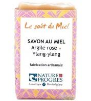 Savon BIO à l'argile rose & ylang-ylang