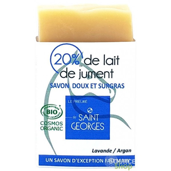 Savon BIO lait de jument, argan & lavande - Le Prieuré de Saint-Georges