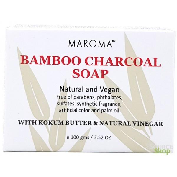 Savon ayurvédique au charbon de bambou - 100g - Maroma