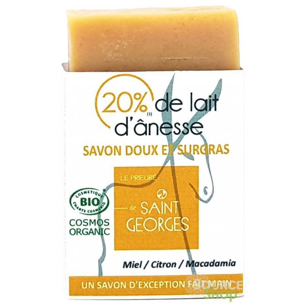 Savon BIO au lait d'ânesse & macadamia - miel & agrumes - Artisanal du Jura
