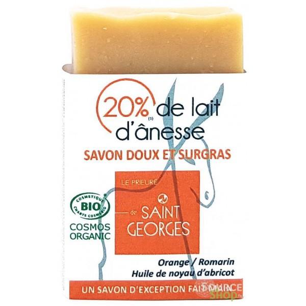 Savon BIO au lait d'ânesse & abricot - orange & romarin
