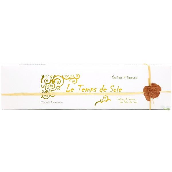 Encens BIO faits main Le Temps de Soie - Equilibre & harmonie - Parfums d'Encens
