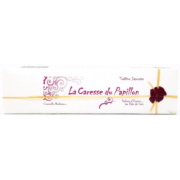Encens BIO faits main La Caresse du Papillon - Tradition Japonaise - Parfums d'Encens