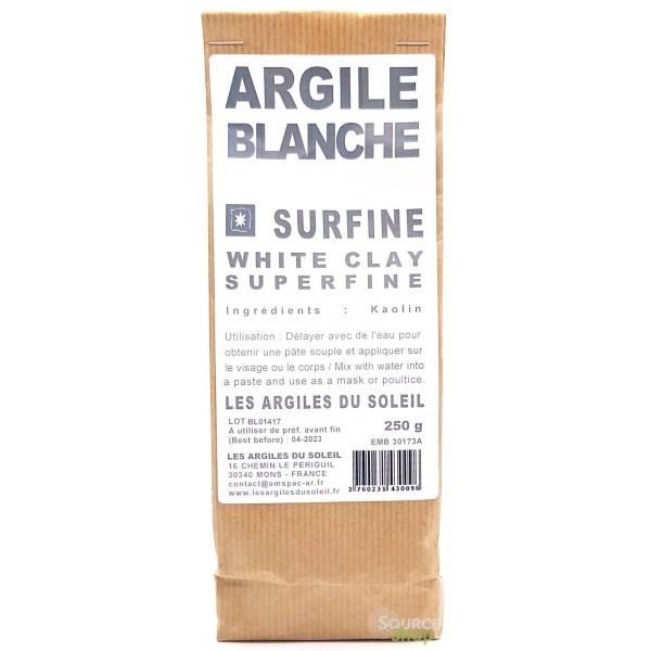 Argile blanche Kaolin - Surfine - Les Argiles du Soleil
