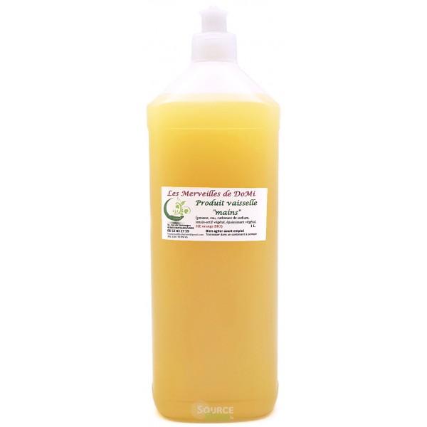 Liquide vaisselle à la cendre & Orange douce BIO - 1L - Zéro Déchet - Les Merveilles de DoMi