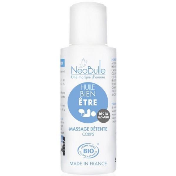 Huile de massage BIO hydratante - Bien-être - Néobulle