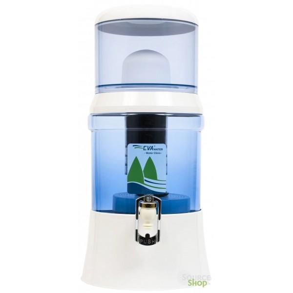 Fontaine EVA en verre - filtration extrême avec IRL et magnétisation
