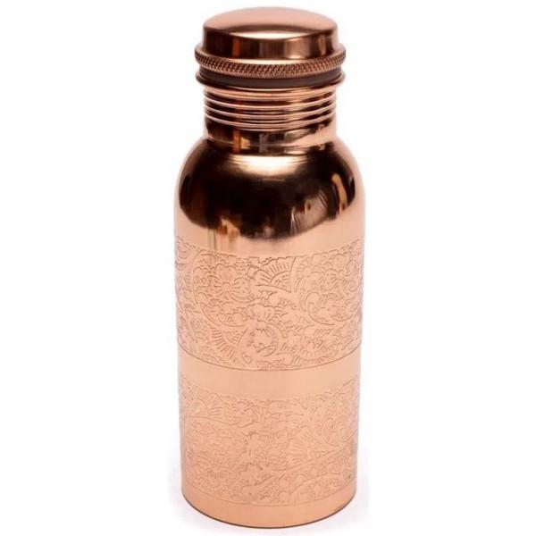 Gourde en cuivre fleuri - 500ml - Yogi & Yogini