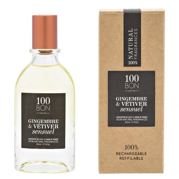 Parfum Gingembre & Vétiver sensuel - Eau concentrée - 50ml - 100BON