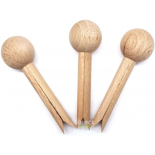 3 Pinces-Mi à sachets en bois du Jura - Tout Simplement