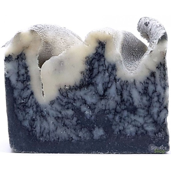Savon au lait de chèvre & charbon - sans huiles essentielles - 135g