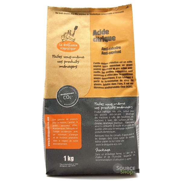Acide citrique - 1kg - La Droguerie Écologique