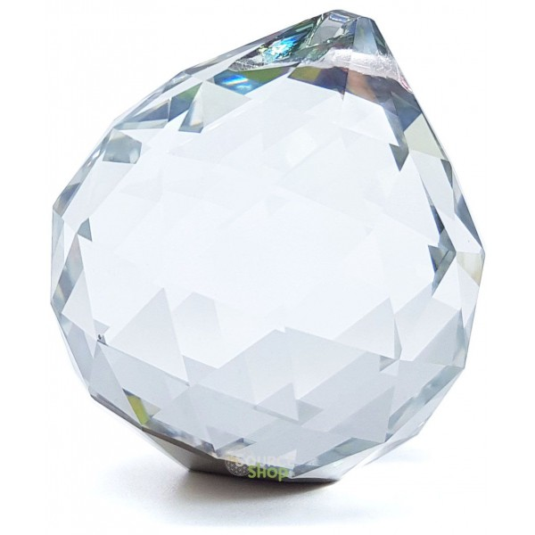 Boule facetée de cristal - Sphère attrape-soleil