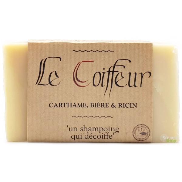 """Shampooing  solide BIO ricin, bière & carthame """"Le Coiffeur"""" - sans huile essentielle"""