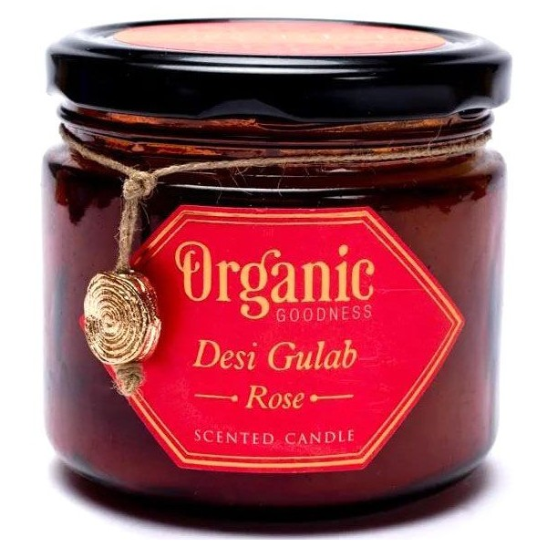 Bougie ayurvédique Rose - végane - Organic Goodness