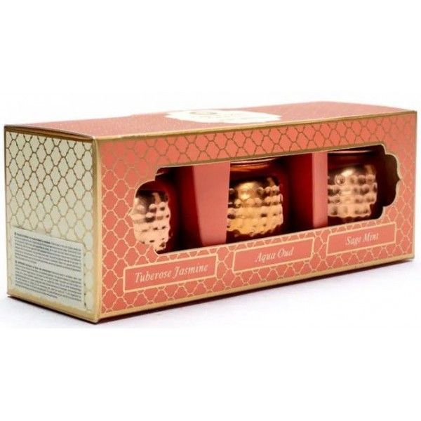 Coffret 3 bougies ayurvédiques véganes - Song of India